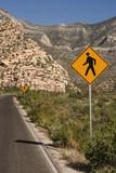 roadway warning poster