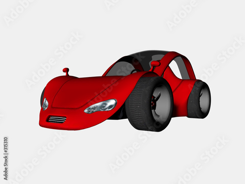 Spoed canvasdoek 2cm dik Cars sports car one