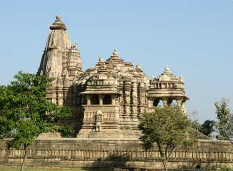 ancient hindu temple at khajuraho
