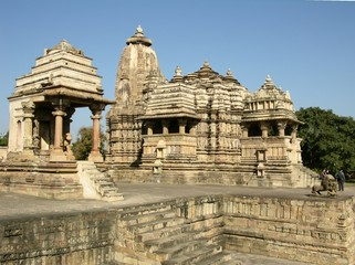 ancient hindu temples at khajuraho