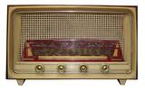 vintage radio w/ path poster