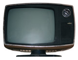 vintage tv w/path poster