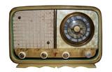 old radio w/path poster