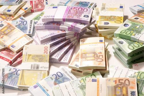 Leinwanddruck Bild european currency - europäische währung