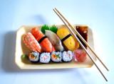 japanese foods set poster