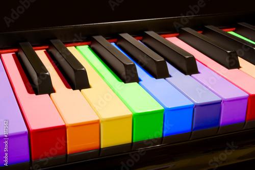 Leinwanddruck Bild the rainbow piano