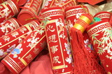 chinese celebration firecrackers poster