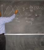writing on blackboard poster