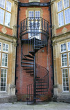 wrought iron staircase poster