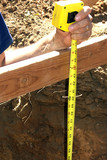 measure tape - measuring depth of hole poster