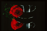 rose and cup poster