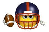 football emoticon poster