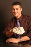 man offering cash 2442 poster
