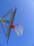 basketball hoop and backboard poster