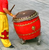 chinese drummer at work poster