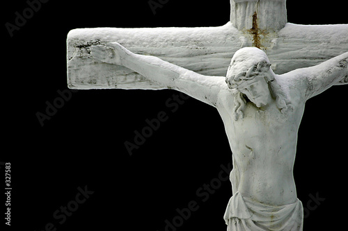 Leinwanddruck Bild jesus on a cross