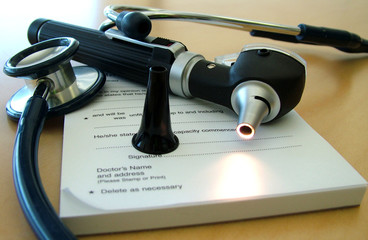 doctors tools of the trade on desk