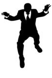 jump of businessman poster