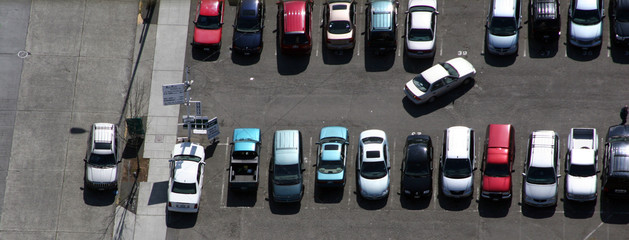 car parking in the last empty space