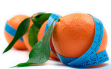 oranges wrapped around a tape poster