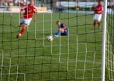 football; soccer; attack poster