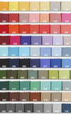 sample of colors in fabric poster