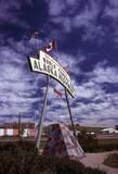 alaska highway entrance sign poster