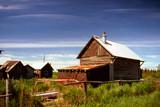 shantys in kenai peninsula alaska poster