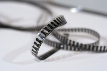 16mm film uncoiled