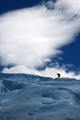 caminata sobre el glaciar