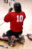 gardien de but au rink hockey poster