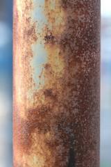 rusty lamp post