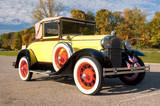 historic antique car poster