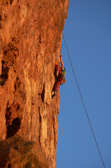 cliff rock climber