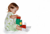 Fototapety child with cubes