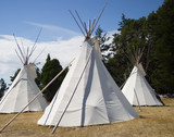 three teepees poster