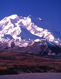 vertical image of mt mckinley (denali) in alaska poster