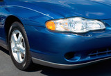 blue sports car front end poster