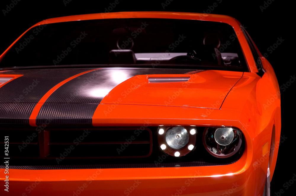 samochodów pomarańczowy czarny - powiększenie