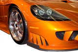 front fender of a stylish sports car