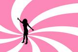female dancing poster