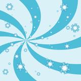 snowflake burst poster
