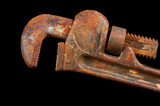 rusted pipe wrench poster