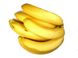 bunch of bananas on white poster