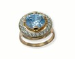 jewelry gold ring with sapphire.