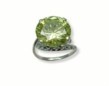 jeweller ring with chrysolite. poster