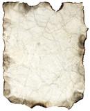 crumpled burnt sheet poster