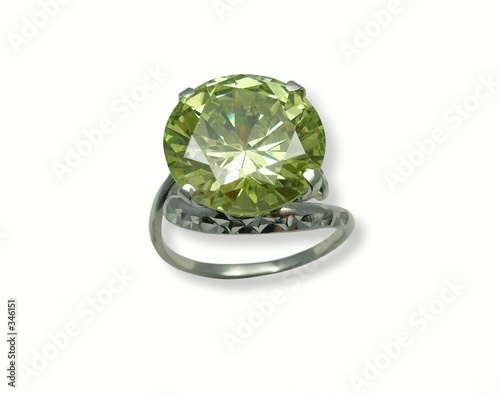 jeweller ring with chrysolite.