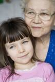 girl with grandmother poster