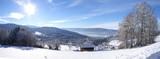 Fototapety panorama sur les montagnes vosgiennes en hiver